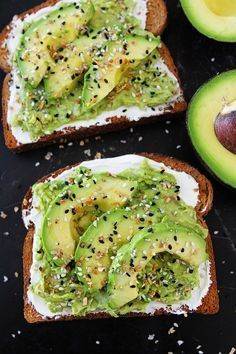 Everything Bagel Avocado Toast tastes just like an Everything Bagel. Toast is topped with cream cheese, avocado, and Everything Bagel Seasoning. You will love this easy avocado toast for breakfast, lunch, or snack time. Breakfast And Brunch, Breakfast Recipes, Breakfast Ideas, Avocado Breakfast, Dinner Recipes, Dessert Recipes, Pregnancy Breakfast, Heathy Breakfast, Healthy Vegetarian Breakfast