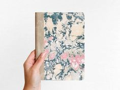 Marbled hard cover notebook