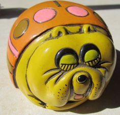 Vintage Pride Creations 5th Avenue Colorful Bull Dog Money Piggy Bank! Japan! #PrideCreations