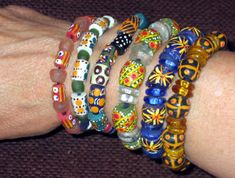 One World Projects - West African Jewelry - Burkina Faso, Ghana and Mali, West Africa. Jewelry Crafts, Jewelry Art, Beaded Jewelry, Handmade Jewelry, Fashion Jewelry, Beaded Bracelets, African Trade Beads, African Jewelry, Fair Trade Jewelry