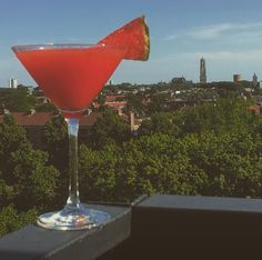 Nothing beats a slow sunset with a home made watermelon martini  #watermelon #martini #watermelonmartini #shakennotstirred #cocktails #sun #sunset #summer #utrecht