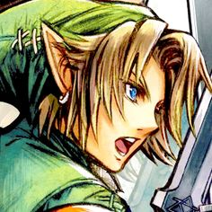 Link, although Link is Nintendo's creation this drawing was created by Square Enix