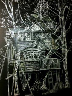 Imagination Tree House Whimsical Fantasy by Scratchthedetail