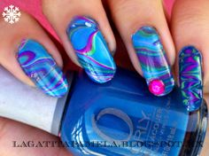 winter water marble