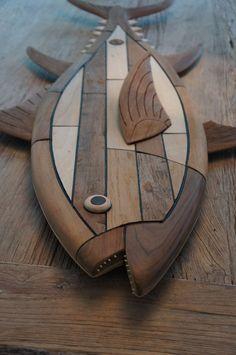 Bluefin Tuna - made by: Paul Jansen #tuna #bluefintuna #surfart #woodcarving #fishart