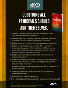 Here are some questions that all principal should ask themselves when inspiring schoolwide excellence. Learn more from the book, The Principal 50: Critical Leadership Questions for Inspiring Schoolwide Excellence, by Baruti Kafele.