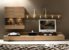 Hulsta Elea lighted wall unit Source by Living Room Wall Units, Living Room Designs, Living Room Decor, Modern Tv Wall Units, Rack Tv, Muebles Living, Tv Unit Design, Tv In Bedroom, Master Bedroom