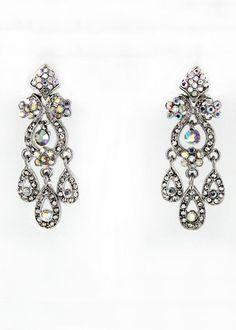 Helen's Heart Style JE-BT002 AB Sparkling Prom Earring
