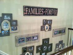 Cute way to display family photos