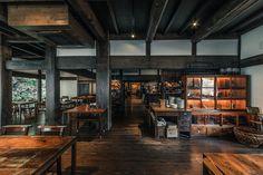 Cafe Bar, Cafe Restaurant, Home Room Design, Kitchen Design, Bar Interior, Interior Design, Coffee Shop Design, Composition Design, Japanese House