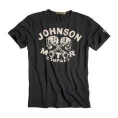Johnson Motors T-Shirt Skulls-black