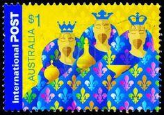 ◙ Australia Postage Stamp (three kings). ◙