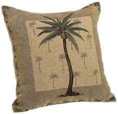 Tropical Tuscan Tuscany Palm Tree Banana Nuts Gold Framed Brown Wallpaper Border