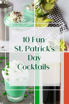 My 10 Favorite St. Patrick's Day Cocktails - A Lush Life Manual Best Vodka Cocktails, Irish Cocktails, Green Cocktails, St Patrick's Day Cocktails, Cocktails For Parties, Coffee Cocktails, Drinks, Tequila, Cotton Candy Vodka