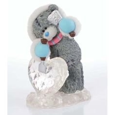 Sculpture of My Love Me to You Bear Figurine