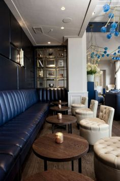 London-based hospitality design consultancy, RPW Design, has completed a re-design of A Bar, a chic new cocktail bar in the InterContinental Amstel, Amsterdam. Hk Restaurant, Restaurant Design, Hotel Lounge, Tap Room, Hospitality Design, Shop Interiors, Cafe Design, Commercial Design, Ceiling Design