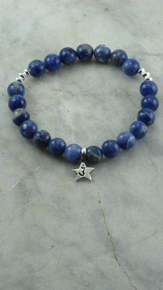 Third Eye Chakra Mala Bracelet - Sodalite - Sterling Silver Charm -  21 Bead Wrist Mala - Buddhist Prayer Beads - Ajna Sixth Chakra. $45.00, via Etsy.