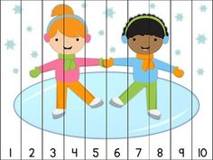 14 winter themed puzzles for counting practice with numbers to Simply print, laminate, and cut apart. Great for math centers! Aligned to Kindergarten Common Core Standards. Puzzles included: Counting by 10 puzzles ~ Educational Activities For Toddlers, Autism Activities, Winter Activities, Preschool Printables, Kindergarten Activities, Preschool Activities, Counting Puzzles, Teaching Time, Kids Education