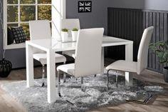 CAVA-ruokailuryhmä (pöytä 140x80 cm+4 tuolia, valkoinen) - Ruokailuryhmät ja pöydät   Sotka.fi
