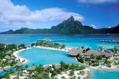 Bora Bora ..... simply breathtaking.  Maybe some day....