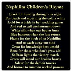 Nephilim Children's Rhyme (City of Heavenly Fire by Cassandra Clare ~ The Mortal Instruments book 6 Mortal Instruments Quotes, Shadowhunters The Mortal Instruments, Serie Got, Jace Lightwood, Creepy, Cassie Clare, Cassandra Clare Books, Rhymes For Kids, The Dark Artifices