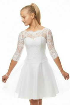 konfirmationskjoler - Google-søgning Dresses For Teens, Cute Dresses, Beautiful Dresses, Short Dresses, Flower Girl Dresses, Formal Dresses, Wedding Dresses, New Outfits, Cool Outfits