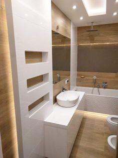 Bathroom Design Luxury, Modern Bathroom, Small Bathroom, Bad Inspiration, Bathroom Inspiration, Bathroom Layout, Bathroom Colors, Bathroom Tub Shower, Modern Kitchen Interiors