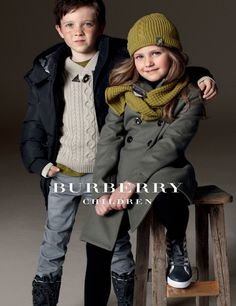 fashion - stylish kids - burberry kids - winter 2011