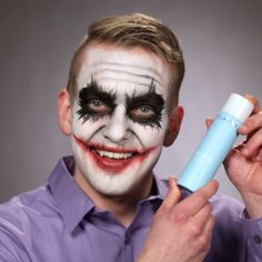 Why so serious? Celavive's Conditioning Makeup Remover dissolves even the toughest long-wear or waterproof makeup! If you are celebrating Halloween tonight, simply wipe away your makeup prior to cleansing! Halloween Makeup Looks, Halloween Make Up, Pretty Halloween, Waterproof Makeup Remover, Make Up Remover, Favim, Makeup Videos, Skin Secrets, Scary Gif