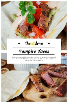 What better way to bring in the BBQ season by trying out this awesome vampire taco recipe? Filled with delicious vampire steak, garlic, spices and mayonnaise, this delicious barbecue recipe is guaranteed to be a hit!#recipe #steak #cooking #bbq #grilling #dinner