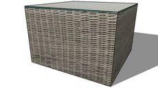 3D Model of Bout de canapé CAP TOWN, Maisons du monde. Réf: 130.719 Prix: 99€