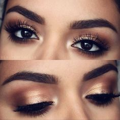 I did a similar look on #closetconfidentialblog Love a sultry, golden eye