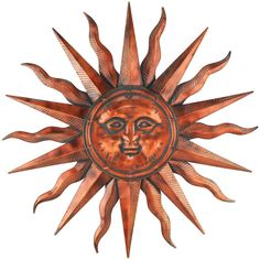 Another great find on Copper Patina Sun Wall Decor by Regal Art & Gift Metal Sun Wall Art, Outdoor Metal Wall Art, Metal Wall Decor, Hanging Wall Art, Outdoor Walls, Metal Walls, Indoor Outdoor, Metal Art, Painted Metal