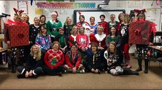 Thanks to Green Screen by Do Ink you never need to miss being in a photo! @SpanishwithStar was able to make the ugly sweater day photo at Viking school!
