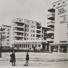 Фото поселения Carl Legien в восточном Берлине 1929 год./ Wohnstadt Carl Legien Berlin.#bauhais#berlin ##germany #howtointeriorchangeyourlife #17комнат #17komnat #баухаус