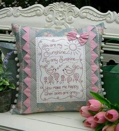 ~~ I absolutely Love this pillow, the colors, the message, its just Beautiful! ~~