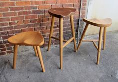 Stools made from sustainably sourced local by AppalachianJoinery, $300.00
