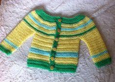 Saquito de bebe realizado en crochet