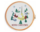 View Merry Christmas by PatternsCrossStitch on Etsy