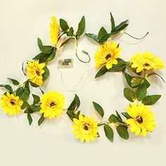 16 Best Sunflower Themed Party And Birthday Decorations [Ideas] Sunflower Party, Sunflower Wreaths, Mini Sunflowers, Led Fairy Lights, Paper Fans, Party Venues, Birthday Decorations, Decorative Items, Beautiful Flowers