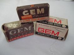 GEM Safety Razor Micromatic Blades with Spring Dispenser Vintage NOS