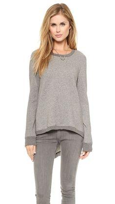 Wilt Shrunken V Back Sweatshirt