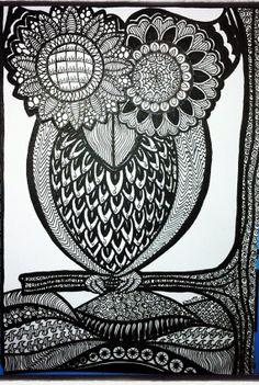 Owl Doodle by Kellysartjournaling on Etsy