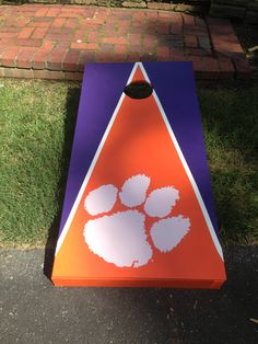 ACC rival (sort of) cornhole. Clemson v. UVA. I made this from DIY site.