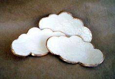 TROIS petites dentelles céramique Cloud Ring plats par dgordon