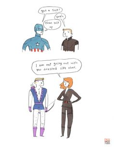 there's a whole series of these hilarious Avengers comics by Noelle Stevenson on her tumblr. She has a Hawkeye obsession that cracks me up.