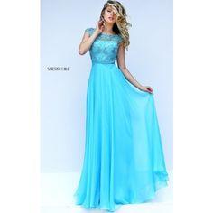 Asymmetrical Strap Light Blue 2016 Sherri Hill 5201 Prom Dress (825 BRL) ❤ liked on Polyvore featuring dresses