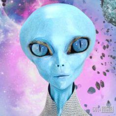 Arte Alien, Alien Art, Aliens And Ufos, Ancient Aliens, Alien Concept Art, Alien Abduction, Alien Worlds, Science Fiction Art, Mail Art