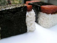 Spam Musubi from Food.com:   spam sushi... made by hawaiian people