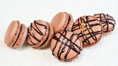 Chocolate Macarons Recipe - Supergolden Bakes Chocolate Sprinkles, Chocolate Ganache, Best Chocolate, Delicious Chocolate, Liquid Food Coloring, How To Make Macarons, Swiss Meringue, Macaron Recipe, Baileys